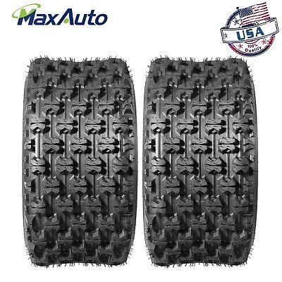 ((2)20X10-9 Rear Sport ATV Tires for Honda TRX250R TRX400EX TRX450ER Polaris)