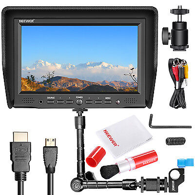"NEEWER NW-708M FIELD MONITOR+11"" MAGIC ARM WITH CLAMP+ STABILIZER CLEAN KIT"