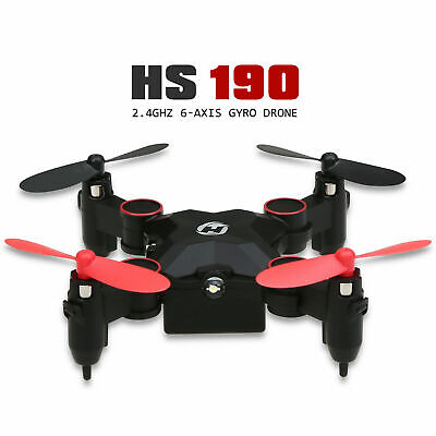 HS190 Mini Drone Nano Foldable RC Helicopter Altitude Hold Quadcopter Headless