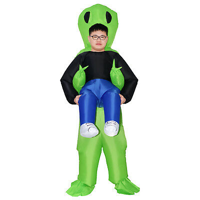 Womens Monster Costumes (Monster Costume Women's Scary Halloween Inflatable Blow Up Suit Men Green)