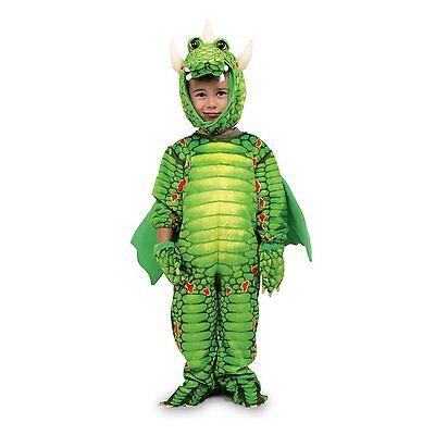Costume Carnevale Drago Bambino Draghetto Verde Vestito Travestimento 2-4 Anni