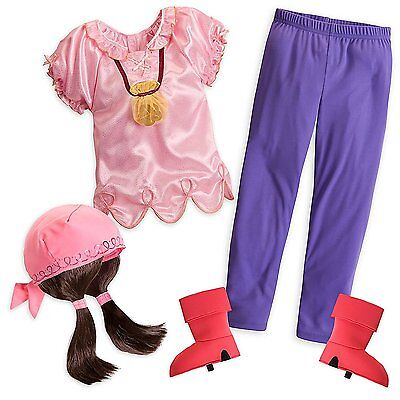 Jake The Pirate Costumes (Disney Store Jake And The Never Land Pirated Izzy Halloween Costume Girl)