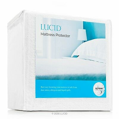 Hypoallergenic Mattress Pad 100 Cotton Waterproof Protector Bed Cover Full (Cotton Full Size Mattress Pad)