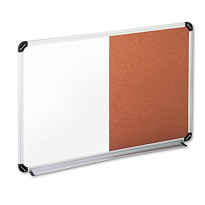 Universal Corkdry Erase Board Melamine 36 X 24 Blackgray Aluminumplastic
