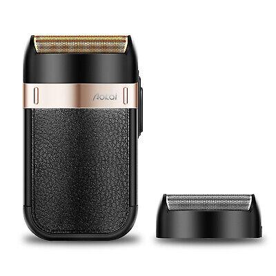 Aokai Elektro Folienrasierer für unterwegs mit USB-Aufladen schenkt eine Folie - Folie Usb