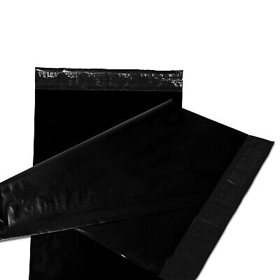 50 19x24 Poly Mailers Plastic Envelopes Shipping Mailing Bags 2.5 Mil Black