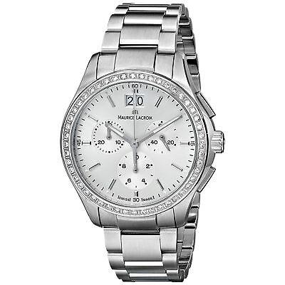 Maurice Lacroix MI1057-SD502-130 Women's Miros Silver-Tone Quartz Watch 130 Maurice Lacroix Watches