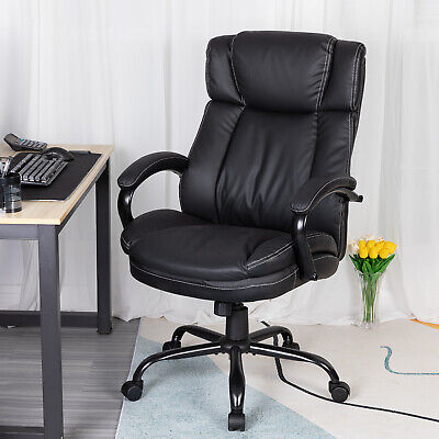 Big and Tall Office Chair 500lbs Wide Seat Ergonomic PU Leather Desk Chair Business & Industrial