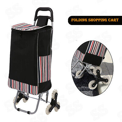 Folding Shopping Cart Laundry Grocery Trolley Dolly Multipurpose Handcart Bag.