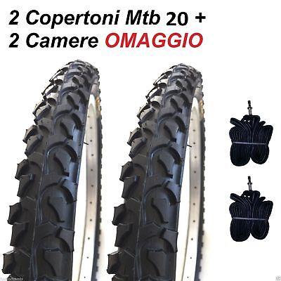 2 Copertoni MTB 20 Per Bici Bicicletta Mountain Bike 20x2.125 Gomme Pneumatico