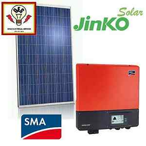 5.2KW GOLD SOLAR PACKAGE - SMA - JINKO 250W TIER 1 -FULLY INSTALL Springfield Lakes Ipswich City Preview