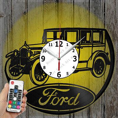LED Clock Ford Retro Car Vinyl Record Clock Art Decor OriginalGift 2295
