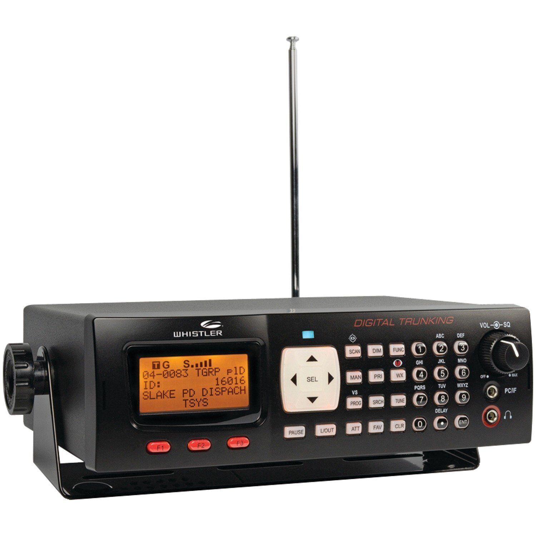 Digital Base/Mobile Police Scanner Black Desktop Radio Commu