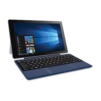 "2-in-1 Tablet Laptop 32GB Intel Atom Quad-Core Processor 10.1"" Screen Windows 10"