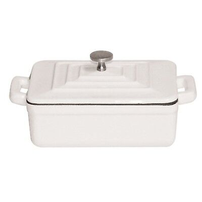 "Paderno World Cuisine White Rectangular Dutch Oven, w/Lid, L 5"" x W 3 1/2"" x ..."