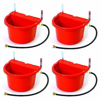 Little Giant 4 Gal Auto Float Controlled Waterer Livestock Trough Red 4 Pack