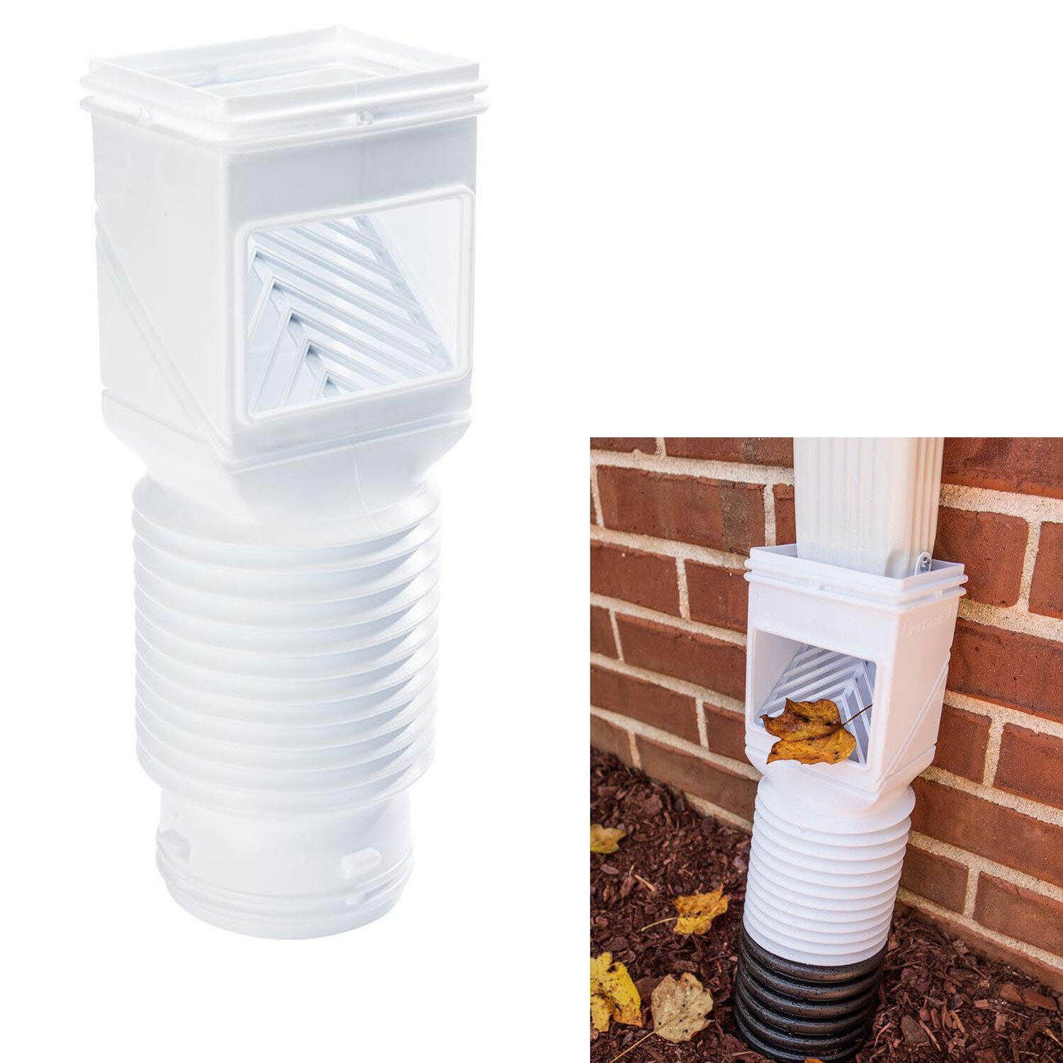 downspout-debris-filter-strainer-gutter-leaf-guard-residential-connector-white