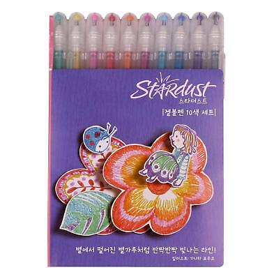 Gelly Roll Stardust Galaxy Pens Assorted Colors 10 pcs Sparkling Sakura PGB10CS4