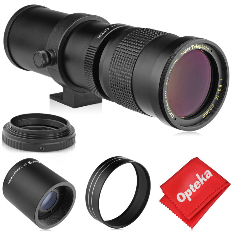 Opteka 420-1600mm Telephoto Zoom Lens for Canon EOS EF Mount Digital SLR Cameras