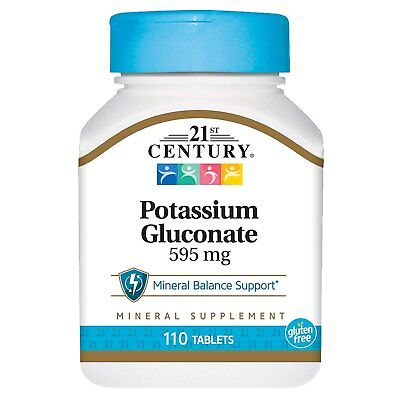 21st Century Potassium Gluconate 595mg Mineral Supplement Tablets 100 Ct, 1 Pack 100 Mg Minerals