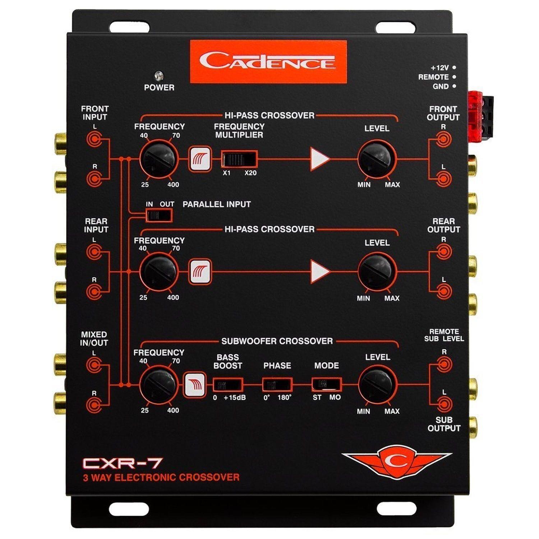 Cadence Cxr7 3 Way Electronic Crossover With 7 Volt Line Driver Ebay Pyle Plam40 4gauge Amplifier Installation Kit Walmartcom Stock Photo