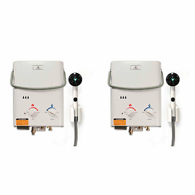 Eccotemp L5 Portable Liquid Propane Outdoor Tankless Hot Water Heater 2 Pack