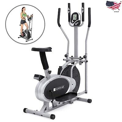 Elliptical Bike 2 IN 1 Cross Trainer Exercise Fitness Machine Upgraded