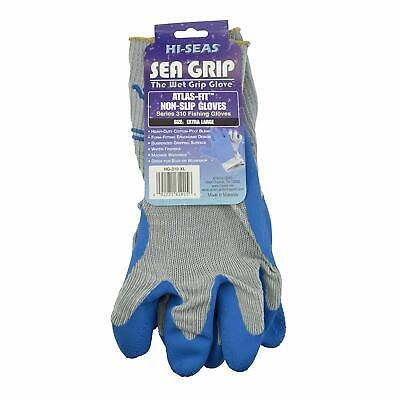 Hi-Seas Sea Grip Premium Non-Slip Gloves, Gray/Blue, Large - Hi Seas Sea Grip