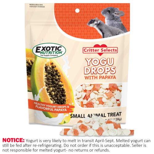 Yogu Drops w/ Papaya 4.5 oz - Healthy Treat - Sugar Glider, Hedgehog, Degu, More
