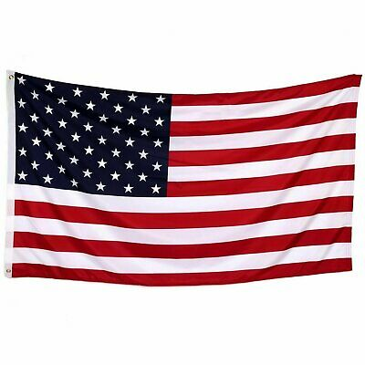 3′ x 5′ FT USA US U.S. American Flag Polyester Stars Brass Grommets Collectibles