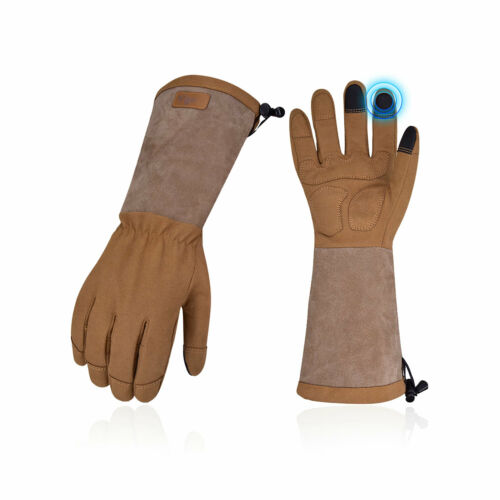 Vgo 1Pair Long Cuff Rose Pruning Thorn Proof Garden Gloves, Work Gloves(SL6592)