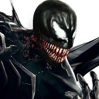 Marvel Spiderman Costume (Marvel Venom Mask Villain Spiderman Superhero Cosplay Creepy Costume)