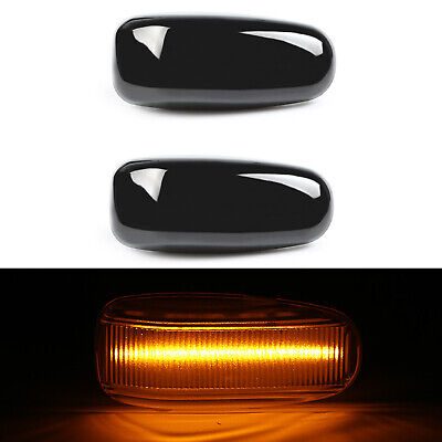 Für Mercedes W210 S210 R170 C208 A208 Vito Sprinter 2x LED Seitenblinker Schwarz