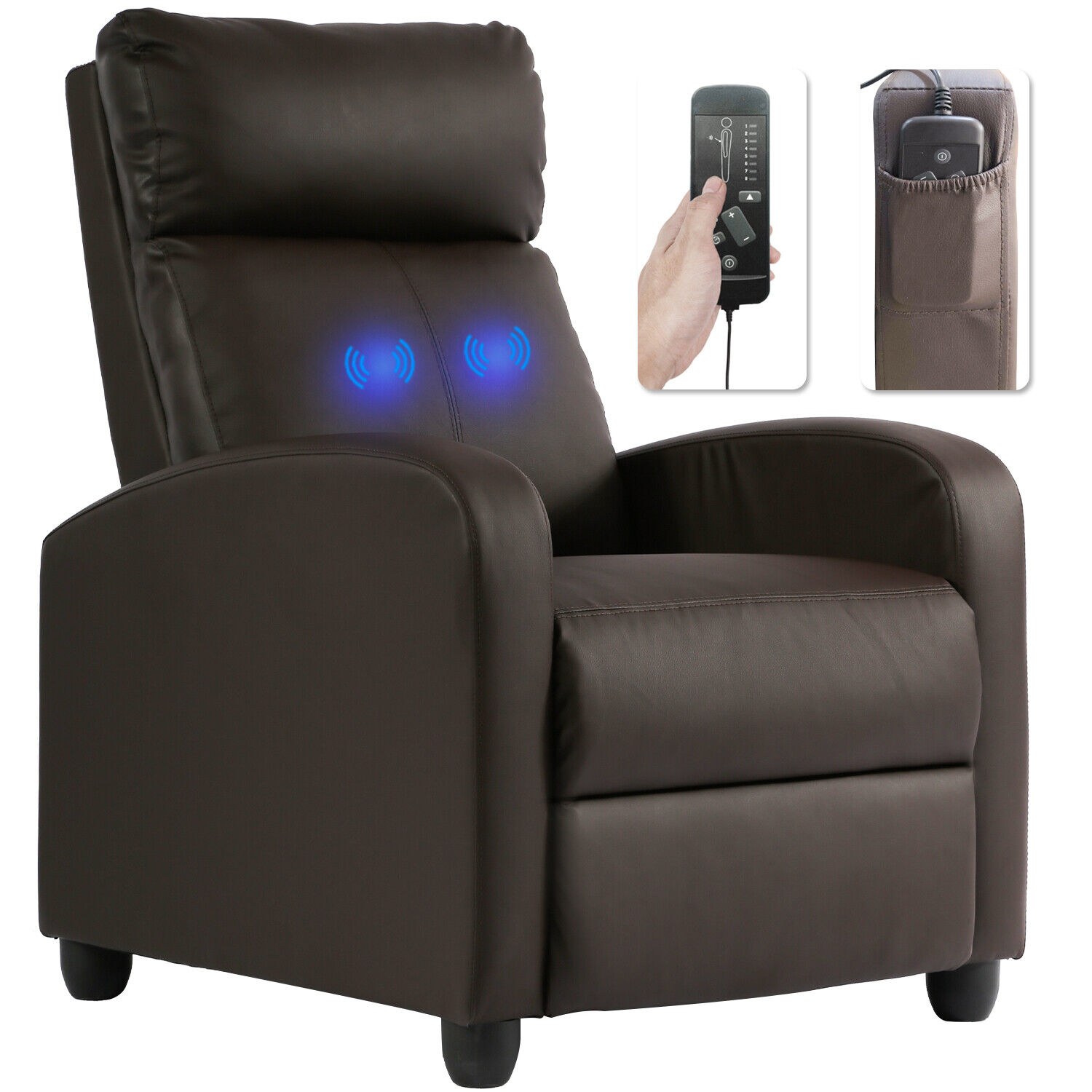 Recliner Chair Reading Chair Winback Single Sofa Home Theater Seating Modern Electric Massage Chairs