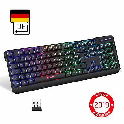 KLIM Chroma Wireless Gaming Tastatur - Gamer Keyboard LED Beleuchtete QWERTZ DE ()