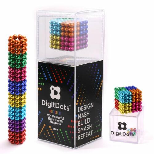 DigitDots 224 Pcs 5mm Magnetic Fidget Balls Multi Color 8 Colors Desk Games