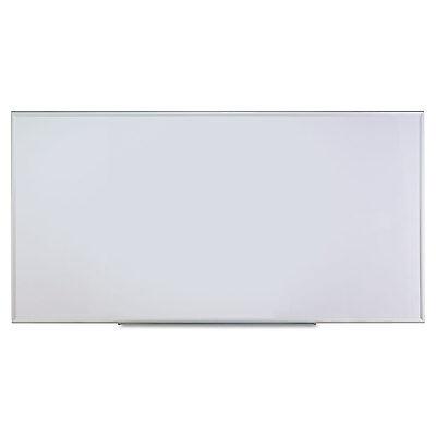 Universal One Dry Erase Board Melamine 96 x 48 Satin-Finished Aluminum Frame