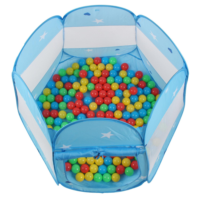 KIDUKU® Kinderspielzelt Blau mit 100 Bällen und |