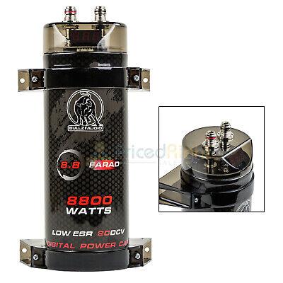 8.8 Farad Capacitor Bullz Audio BCAP8.8 8800 Watts Power 12V Car Digital Power 12 Farad Car Capacitor