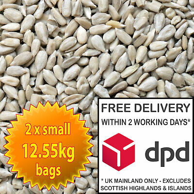 25kg Sunflower Hearts -  Premium Bakery Grade Dehulled Kernels Wild Bird Food