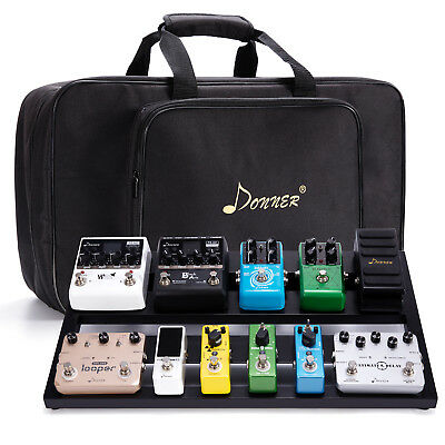 Donner Big Guitar Pedal Board DB-3 Suitcase Aluminium Pedalboard Bag