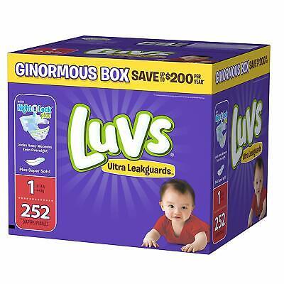 Luvs Ultra Leakguards Baby Diapers Newborn Size 1 252 Count (No (Luvs Ultra Leakguards Newborn Diapers Size 1)