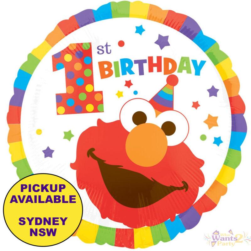 Elmo Sesame Street 1st Birthday Party Supplies Helium Foil Balloon Decorations Ebay