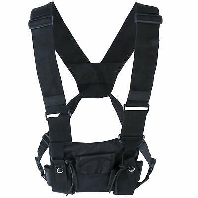 Radio Chest Harness 2-way Walkie Talkie Holster Holder Vest Rig Front Pouch