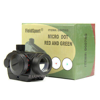 Field Sport 4Moa Red Green Dot Reflex Sight Low Profile Micro 20Mm Mount