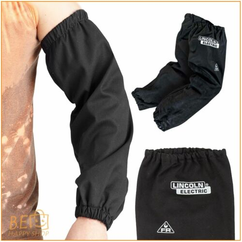 Black Flame Resistant Welding Sleeves Work Arms Heat Spatter Protect 21