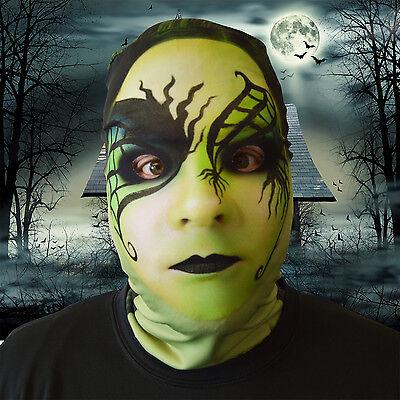 Design Gesicht Skin Lycra Gesichtsmaske Halloween L&S (Grünes Gesicht Maske Halloween)