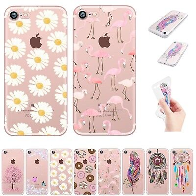 UK Soft Silicone Rubber Phone Case Thin Clear Cover For Apple iPhone 5 6s 7 Plus
