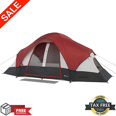 Ozark Trail 8 Person Instant Cabin Tent 2 Room Family Camping Outdoor|16 x 8 ft| (8 Person 2 Room)