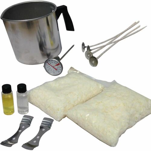 Soy Candle Making Kit & Supplies: Complete DIY Set with 2 LB Soy Wax + Fragrance